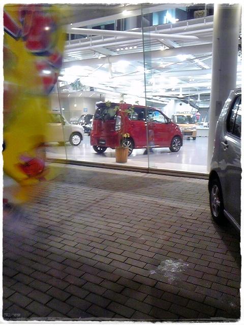 カラーバス効果~赤い車